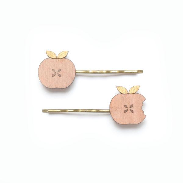 barrette pommes dorées