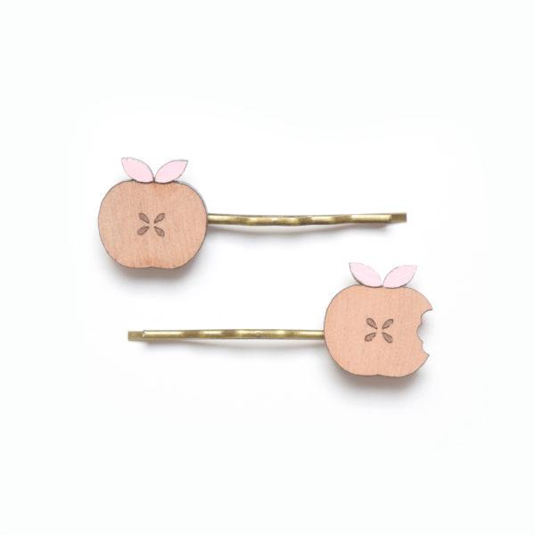 barrette pommes roses