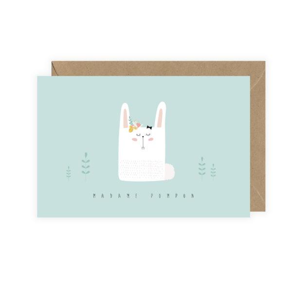 "Carte postale ""Madame Pompon"""