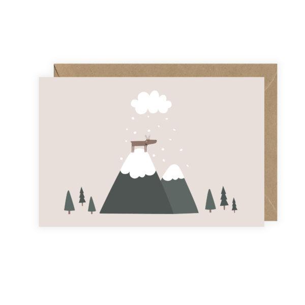"""Carte postale """"Renne sur la montagne"""""""