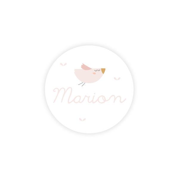 Sticker rond Naissance Oiseau