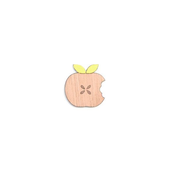 broche pomme jaune