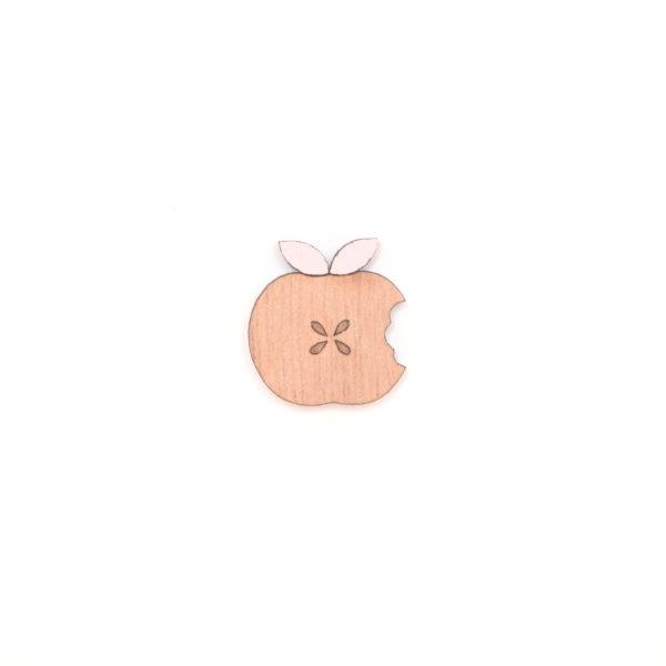 broche pomme rose