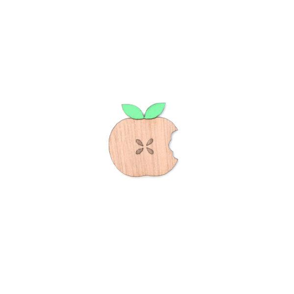 broche pomme verte