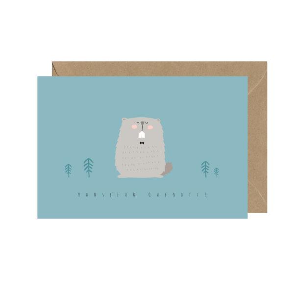 Carte postale marmotte