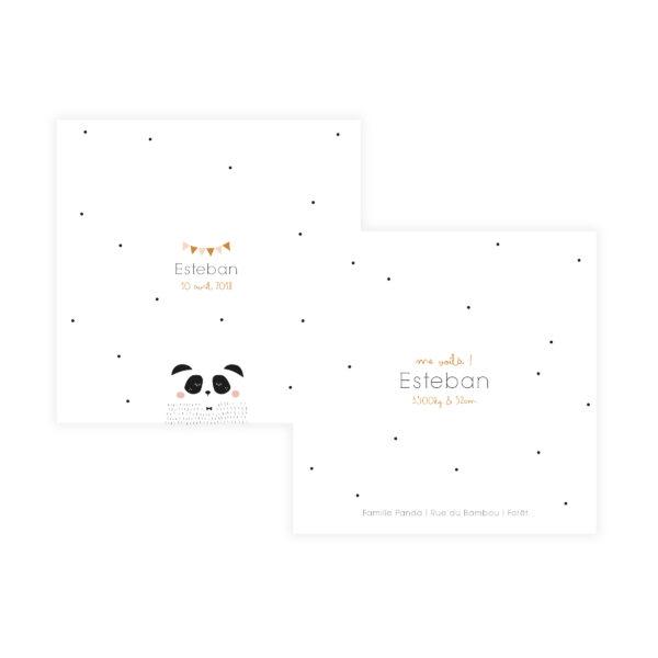 faire-part de naissance panda