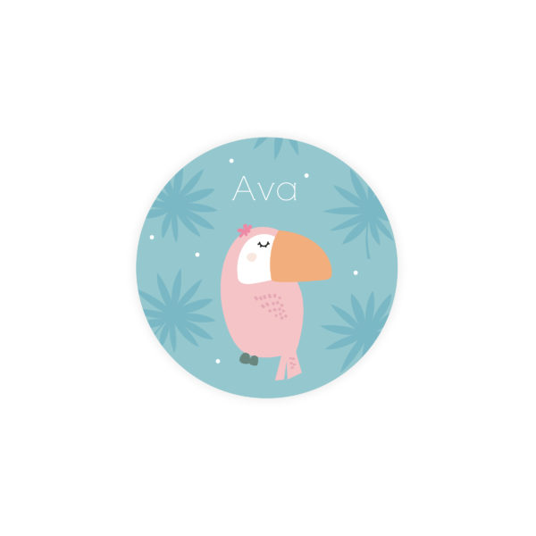 stickers naissance toucan