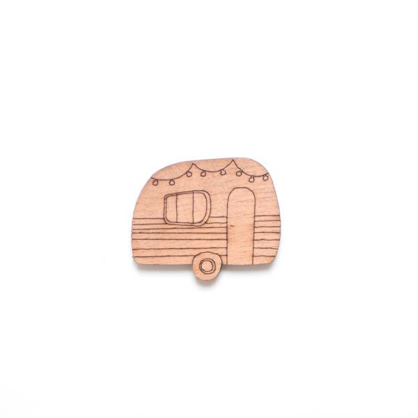 broche en bois caravane camping