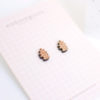 boucles d'oreilles en bois feuilles de chêne