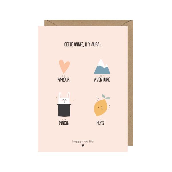 carte postale voeux anniversaire